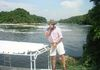 Paul on the Nile River, just below Murchison Falls.