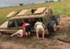 Paul loved challenges, getting stuck in mud in Kidepo was pure enjoyment for Paul