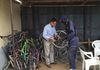 Paul visiting  the Bicycles for Humanity Centre in Montany Karamoja