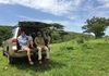 Paul and I sitting at the place where the  mountain bike trails start and the location we picked for the campground for the Tour of Karamoja.