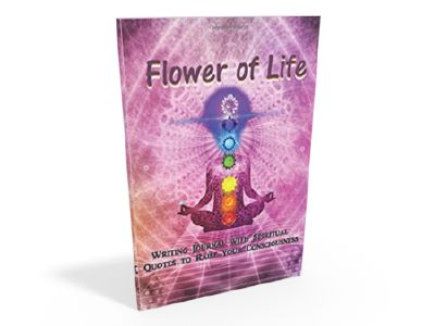 Flower of Life, writing journal with spiritual quotes to raise your consciousness by Quisqueyana Pre