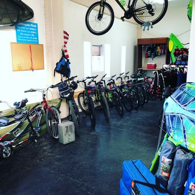 Need to rent a bike? Our rental fleet of bikes includes mountain, cruiser and tandem bicycles.