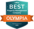 "Recognized as a ""Top Property Management  Company  2020"" in Olympia, WA  by PropertyManagement.com"