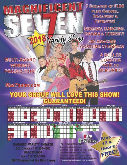 Magnificent 7 Variety Show in Branson, MO RESERVE SEATS HERE