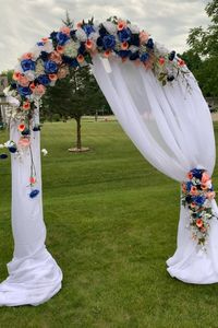 Elegant Wedding Arch, dreams with white chiffon fabric
