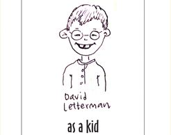 sketch of David Letterman, late night show host, as a child.