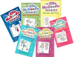 The six books of the Ellie McDoodle Diaries series