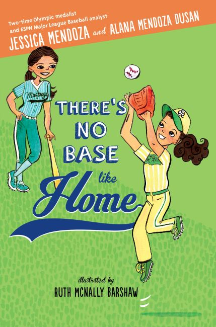 There's No Base Like Home, book cover, 2 sisters playing softball