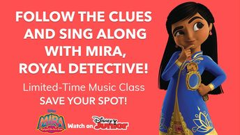 Mira, Roya Detective Limited-Time Music Class Save Your Spot! @DisneyJunior @kindermusik