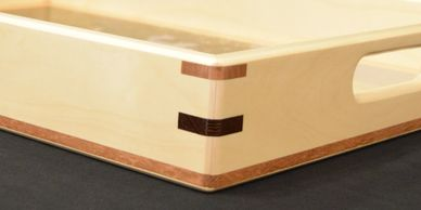 Custom woodwork - decorative serving tray.