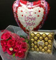 Roses, Balloon and chocolates, Roses and gifts, flower arrangements, same day delivery, Metro atlanta