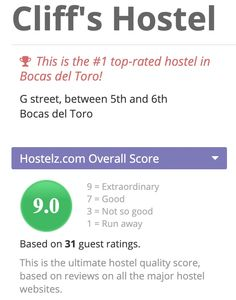 Rated #1 on Hostelz.com www.cliffshostel.com