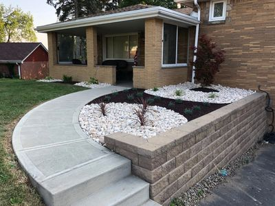 Retaining wall hardscaping landscaping walls concrete landscape deisgn