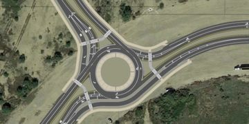 Az Roundabouts, George White roundabout design and rendering of multilane roundabouts