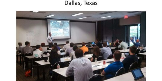 George White teaches roundabout work shop in Dallas, TX