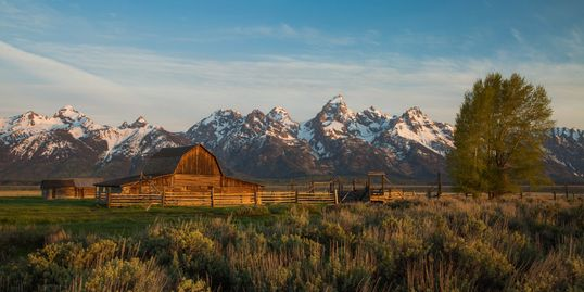 Moulton Barn is a photographic icon located in Jackson, Wyoming.
