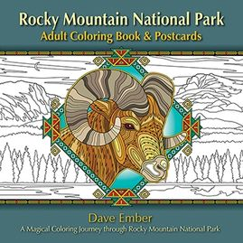 Rocky Mountain National Park; adult coloring book