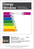 UPVC Window Energy Efficient  A++ Energy Rating