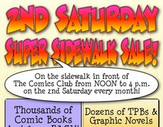 2nd Saturday Super Sidewalk Sale Flyer
