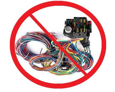 Do NOT use a wiring harness - EVER !