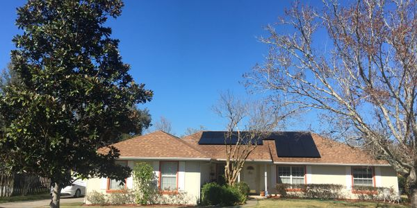 Clean Renewable and Sustainable Solar Energy house at Indian Pines, Ocala, Florida.