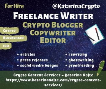 Crypto Content Services: articles, PR, editing, rewriting, infographics, social media marketing.
