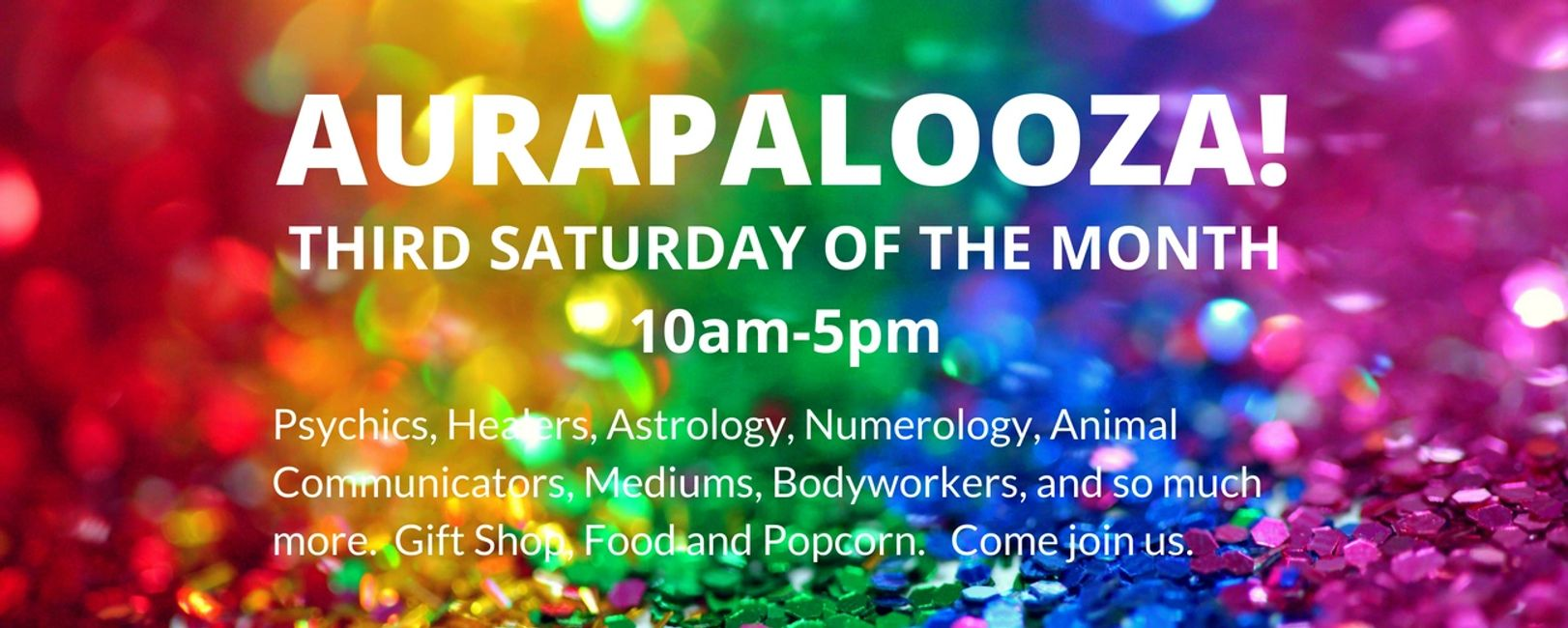 Invitation to AURAPALOOZA at Echo Bodine's Center