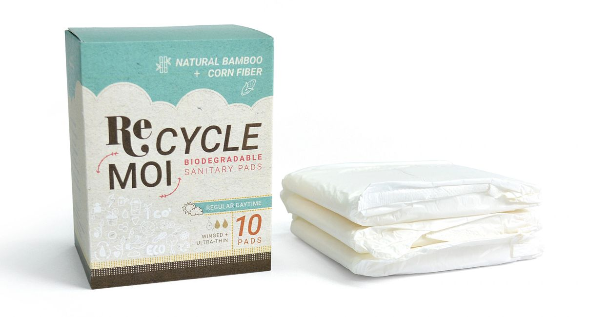 Recycle moi sanitary pads, recycle moi pads mauritius, Lalita Junggee, Lalita P-Junggee, Bamboo Pads