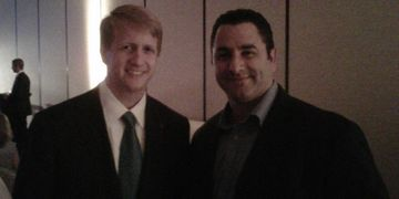 David Marriott with Scott Carpel, Vice President of Carpel Cleaning Services