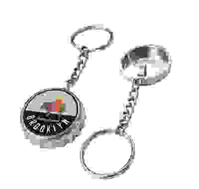 Bottle Cap Bottle Opener with key chain and key ring
