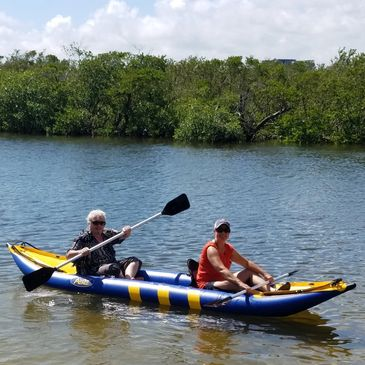 Fun, stable, Inflatable Kayak.  1 and 2 person available.  Tube style shown, other types available.