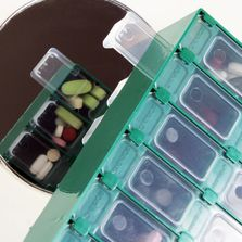 Meds-Pro 14-Day Double Sided Pill Organizer Double Sided Design