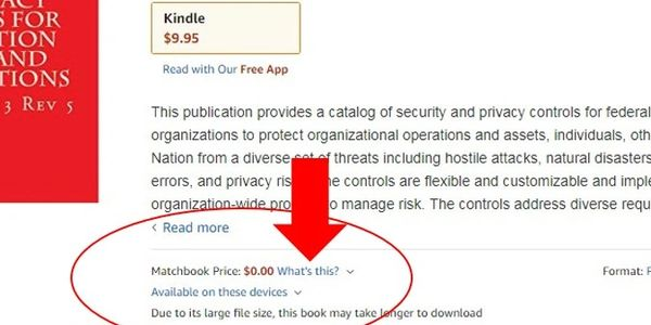 Amazon Matchbook Program allows FREE download of ePub when you buy the paperback