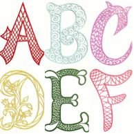 English alphabet series- hand cut paper artwork