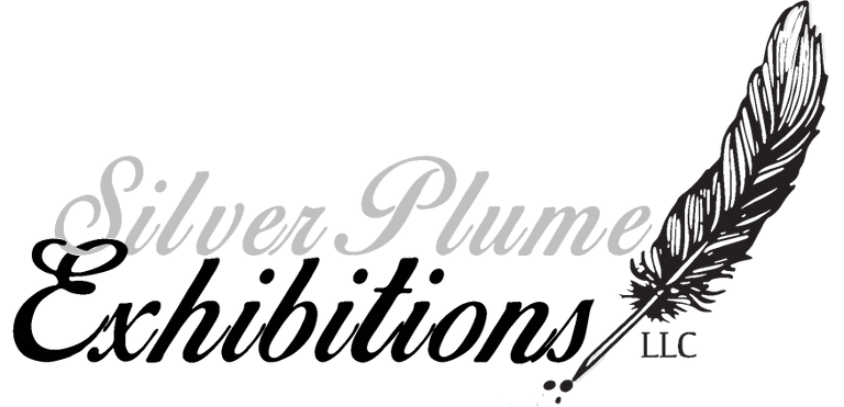 Silver Plume Exhibitions llc logo with feather