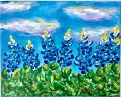"""Painting Bluebonnets"", May 18th @ 10am Join us for Canvas Creations click below for more informatio"