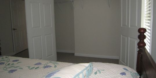 Look at that closet space!!  Each bedroom has a large closet. There is also closet space in the bath