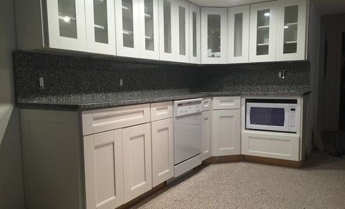 New Caledonia Group A Granite with Full Heigh Backsplash