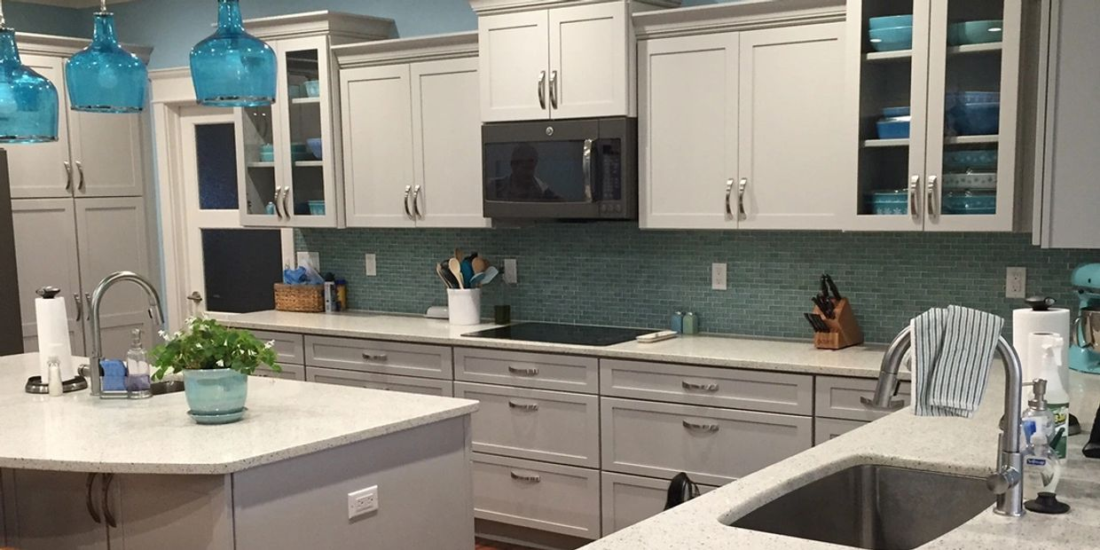 Geos Recycled Glass Kitchen