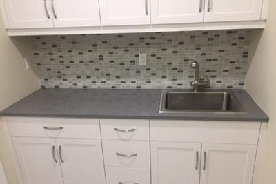 Cambria Carrick Laundry Room with Drop in Stainless Steel Sink
