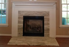 Fantasy Brown Leathered Fireplace