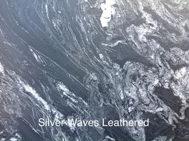 Silver Waves Leathered Granite