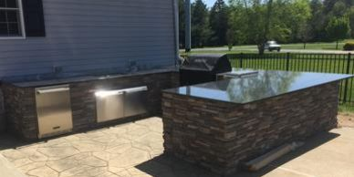 Steel Grey Granite Outdoor kitchen