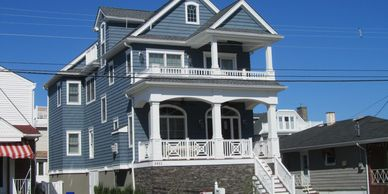 This one story Longport residence needed to grow to meet the needs of its new family.  Located on a