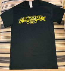 Haymakers black t-shirt with yellow graphic