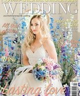Styled shoot on front cover of Cheshire & Merseyside Weddings at Dorfold Hall