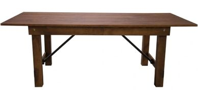 Each 40x84 wood farmhouse table is an attractive solution for any modern or rustic setting.