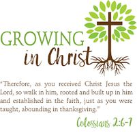 Growing in Christ image