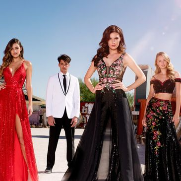 SoChic by Vanessa's is located in Waco, Texas & offers a large variety of Prom dresses & Tuxedos.
