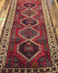 Oriental rug in red and blue